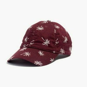 NWOT Madewell Burgundy Palm Tree 100% cotton Cap
